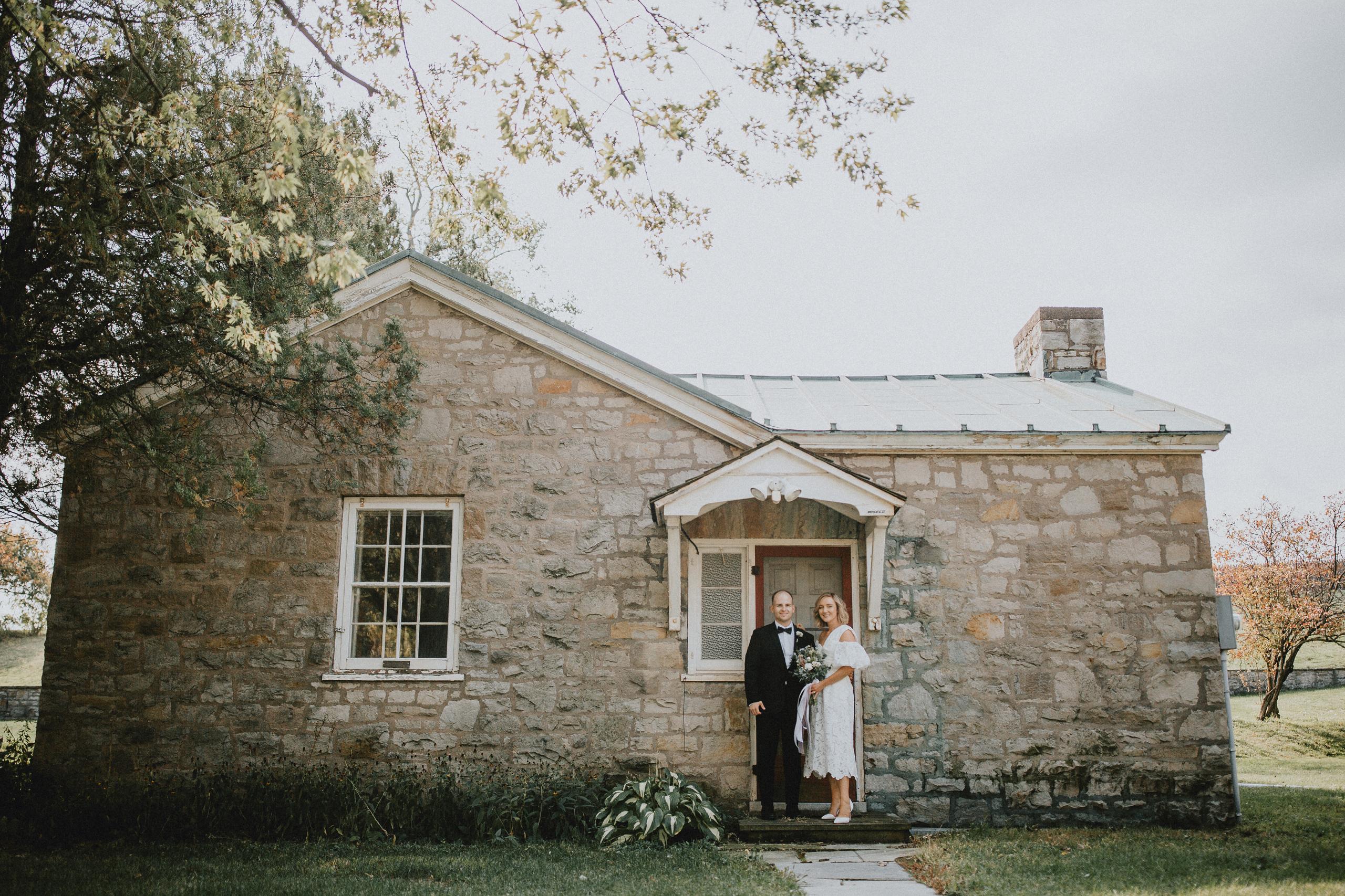 classic wedding photography niagara on the lake blonde bride film