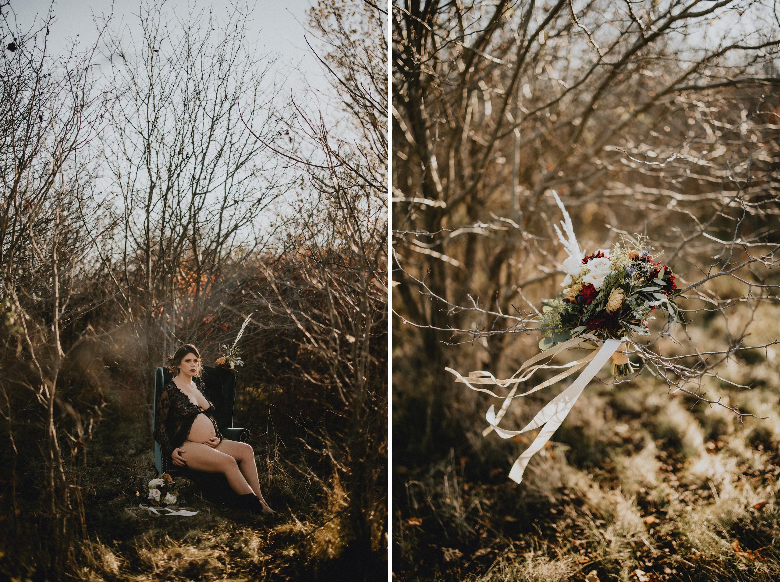 maternity photographer niagara outdoor fall
