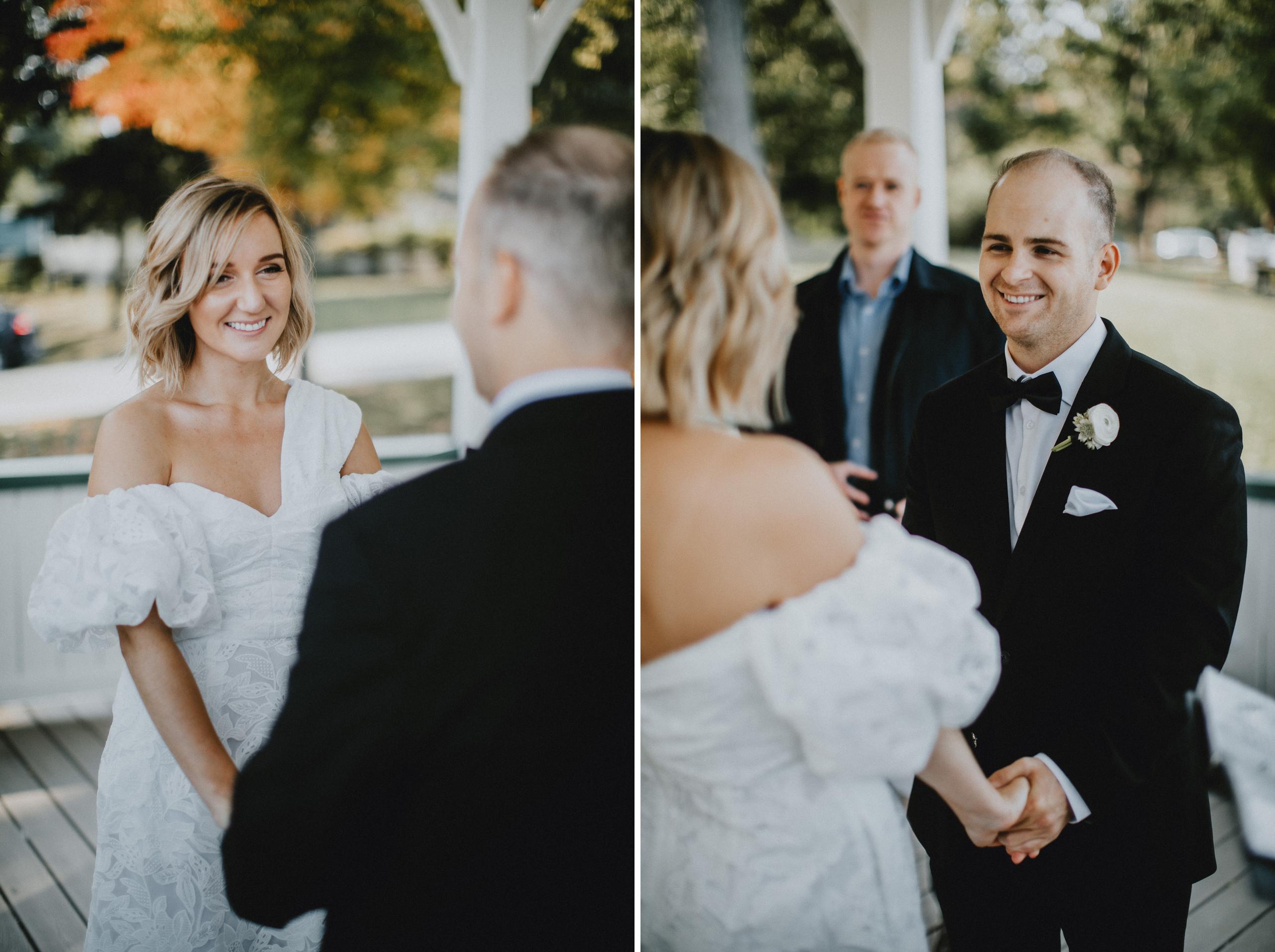 white gazebo notl small wedding elopement niagara photographer