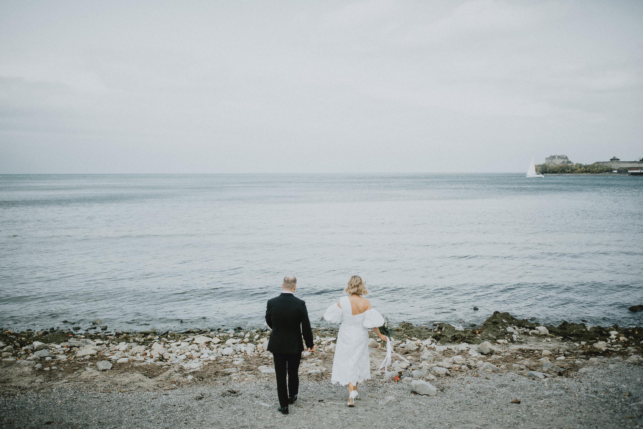 bride groom wedding beach niagara on the lake photographer