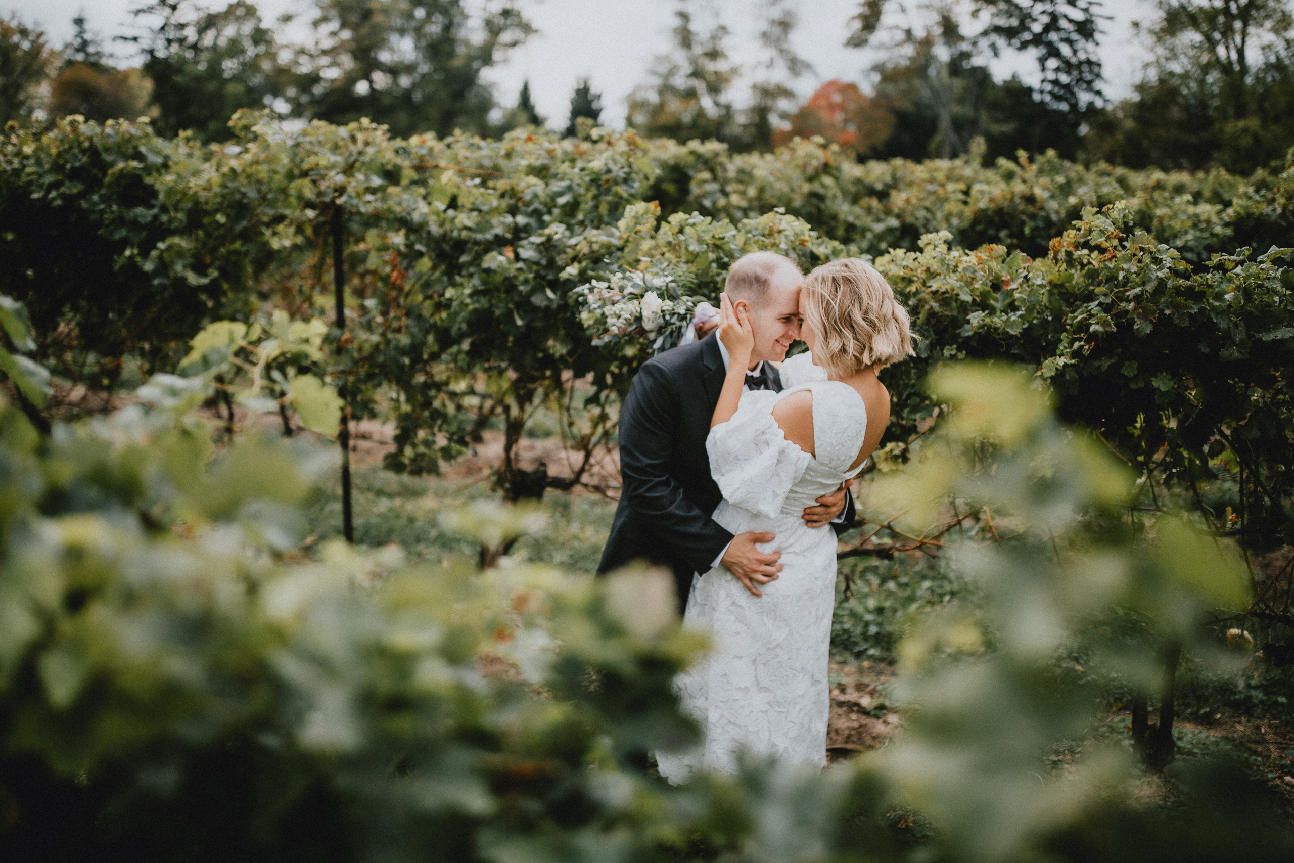 romance vineyard bride niagara on the lake wedding afterglow