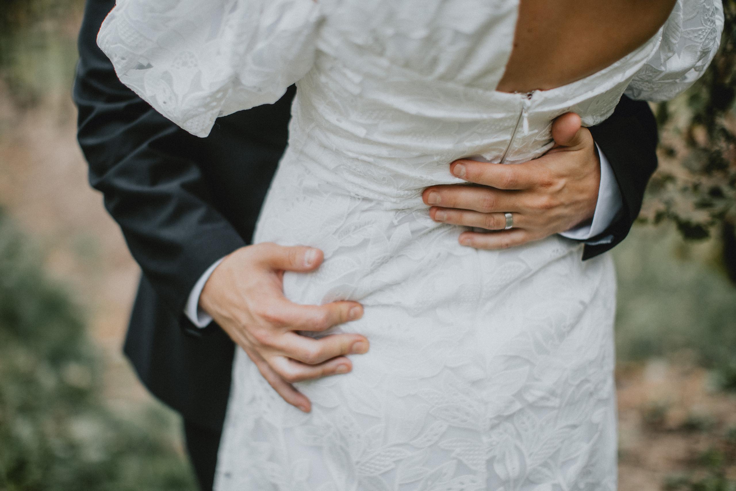 wedding rings romance vineyard bride groom afterglow