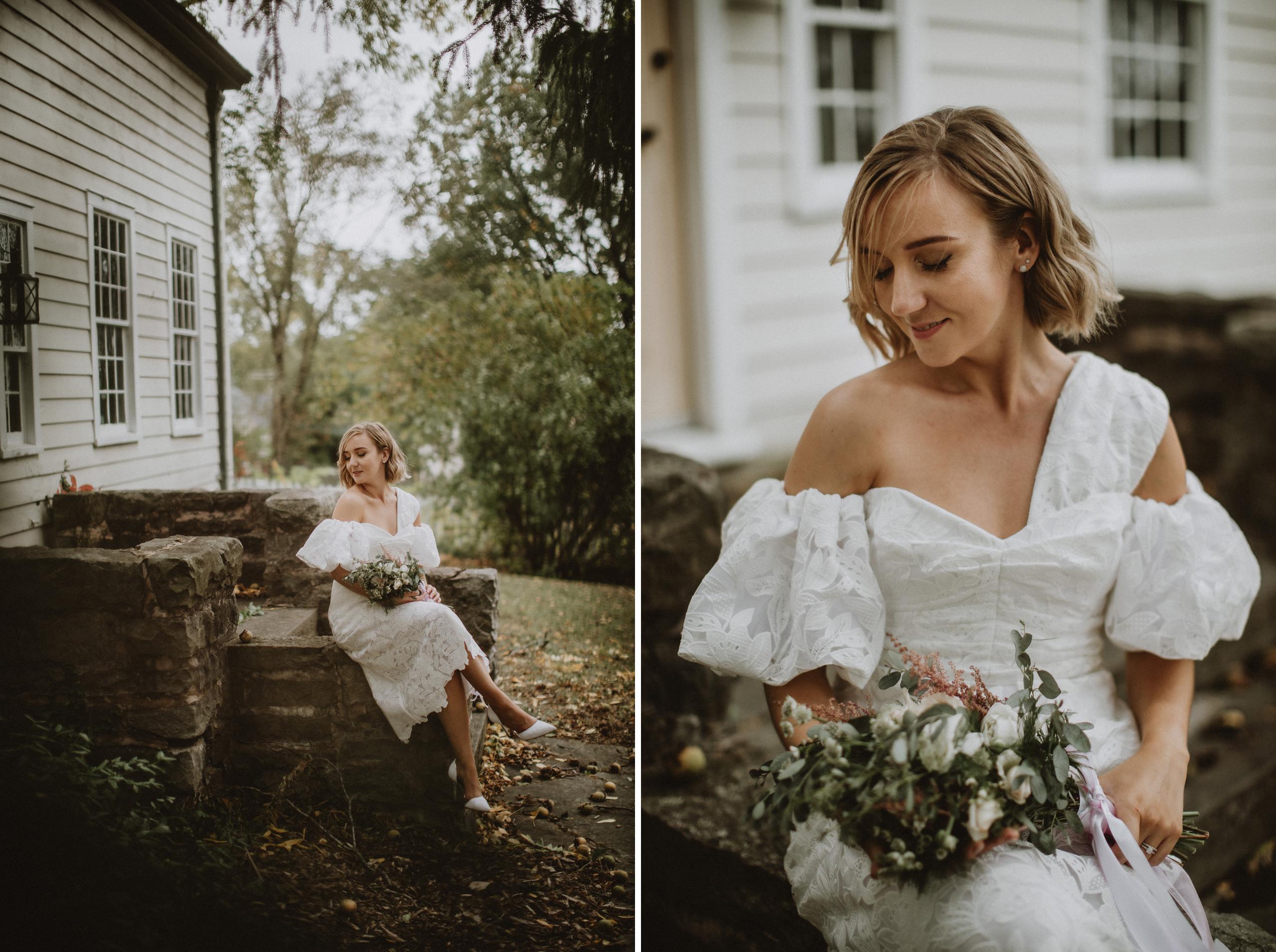 unique wedding dress niagara bbblooms florals afterglow photographer