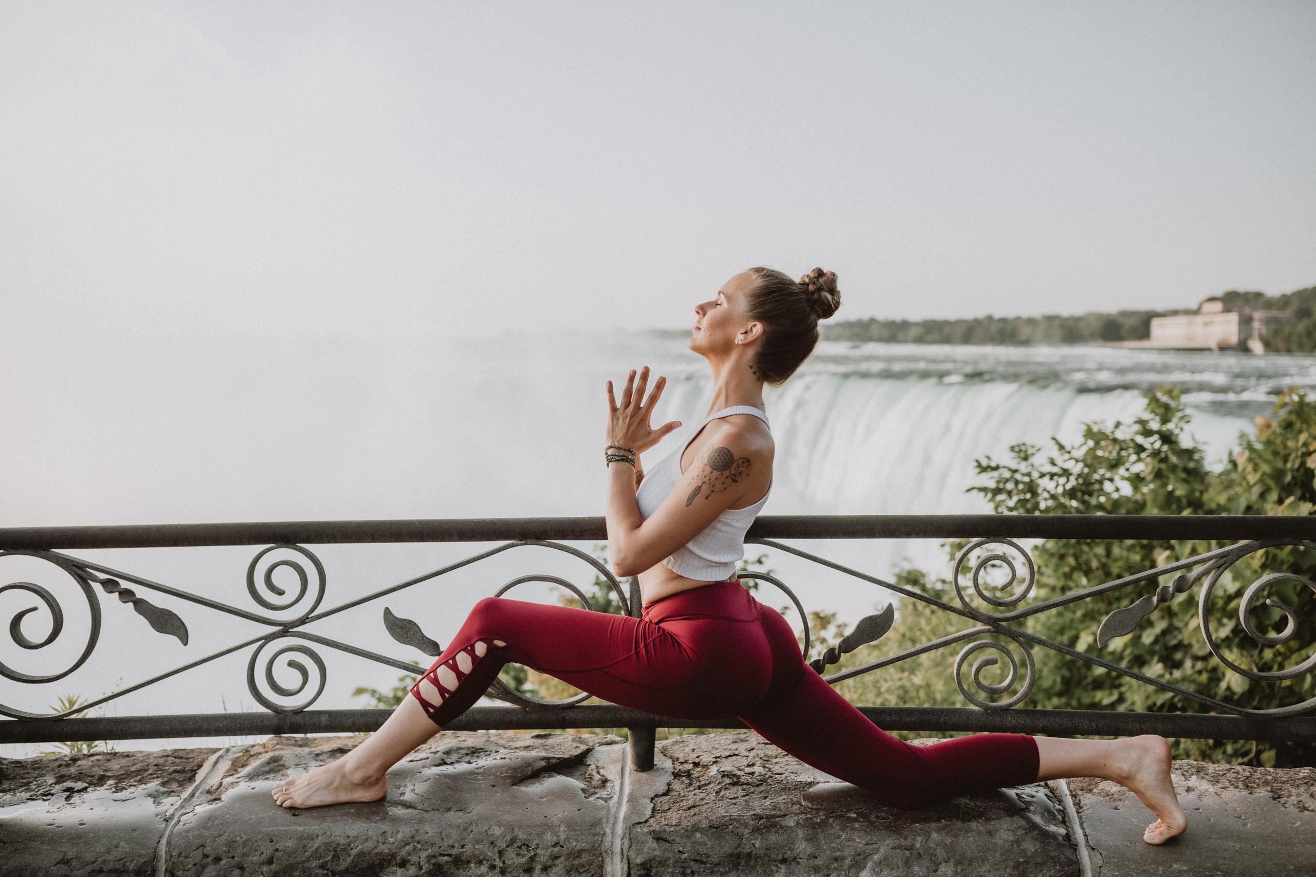 niagara falls yoga pose kristina vatra wellness outdoor
