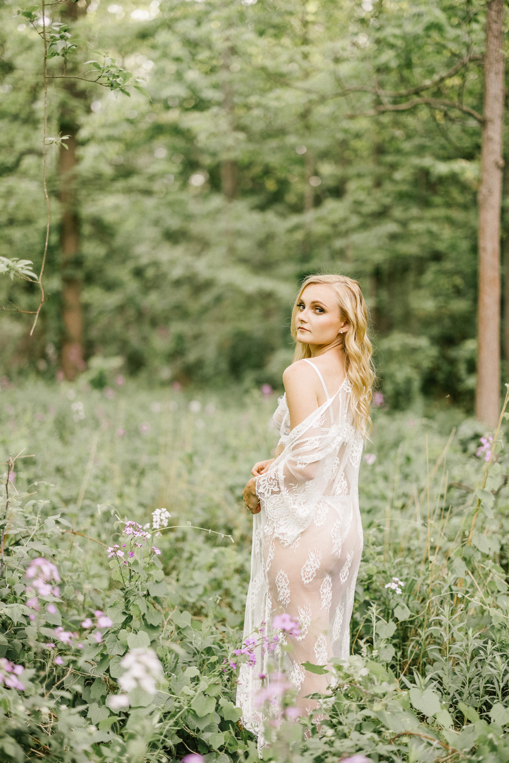 sensual boudoir bride outdoor niagara soft film afterglow