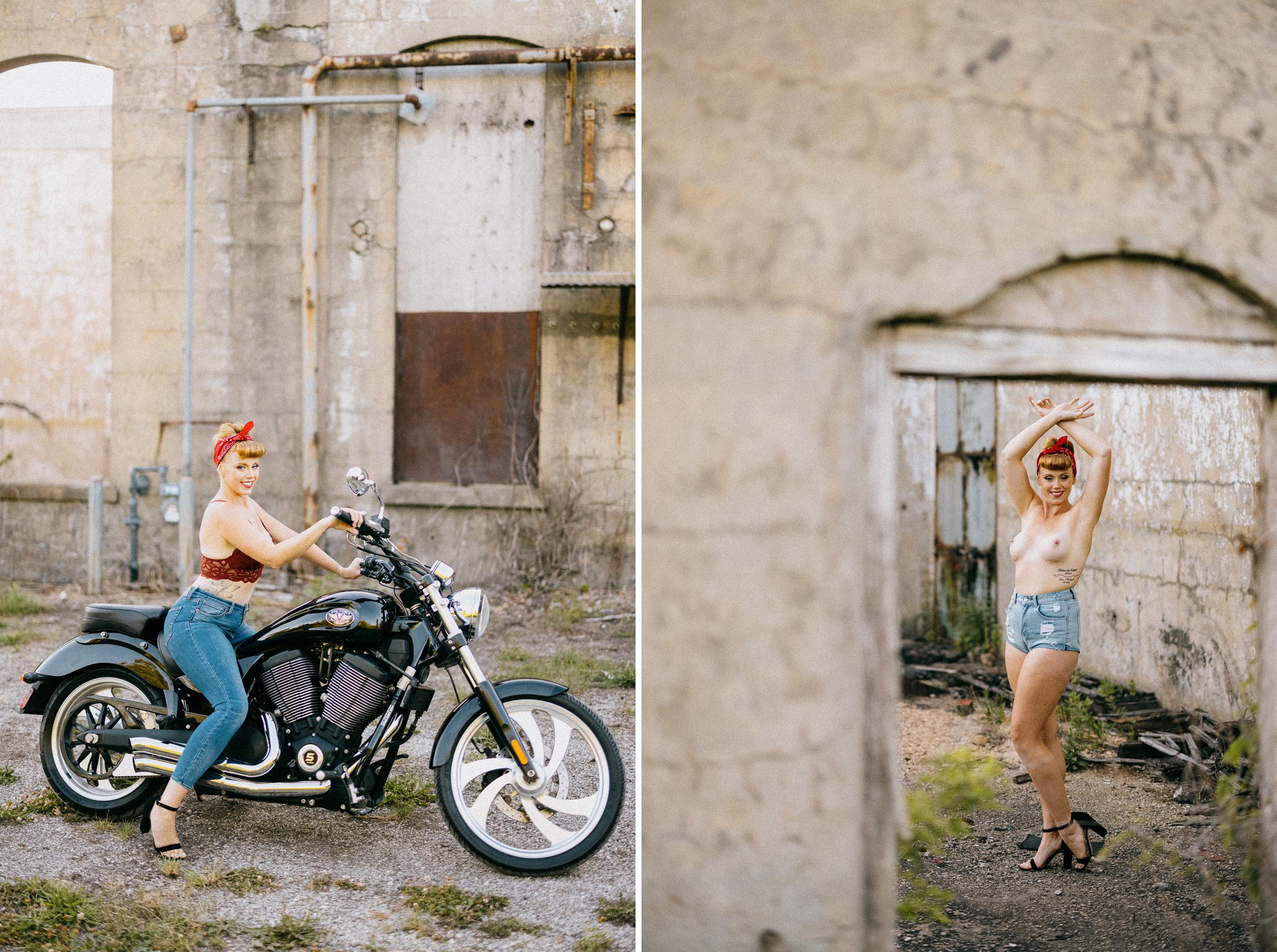 curvy lingerie topless boudoir outdoor photography niagara
