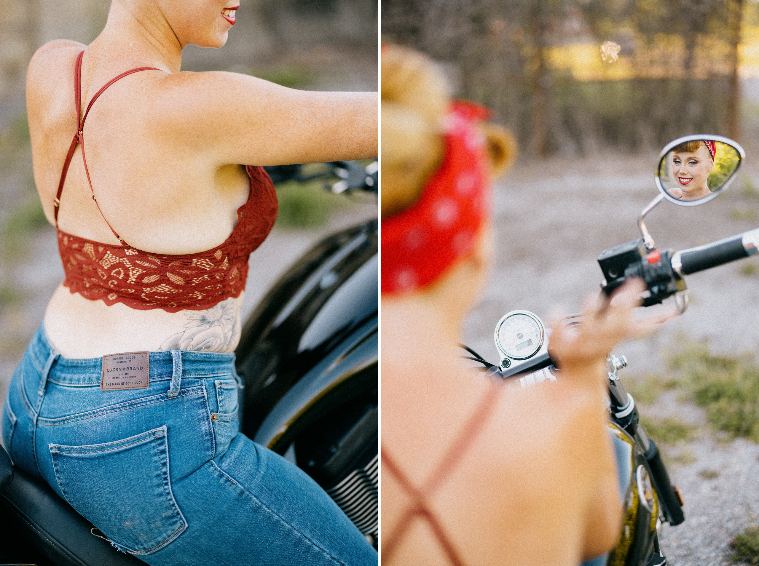 lucky brand jeans hot boudoir outdoor motorycle