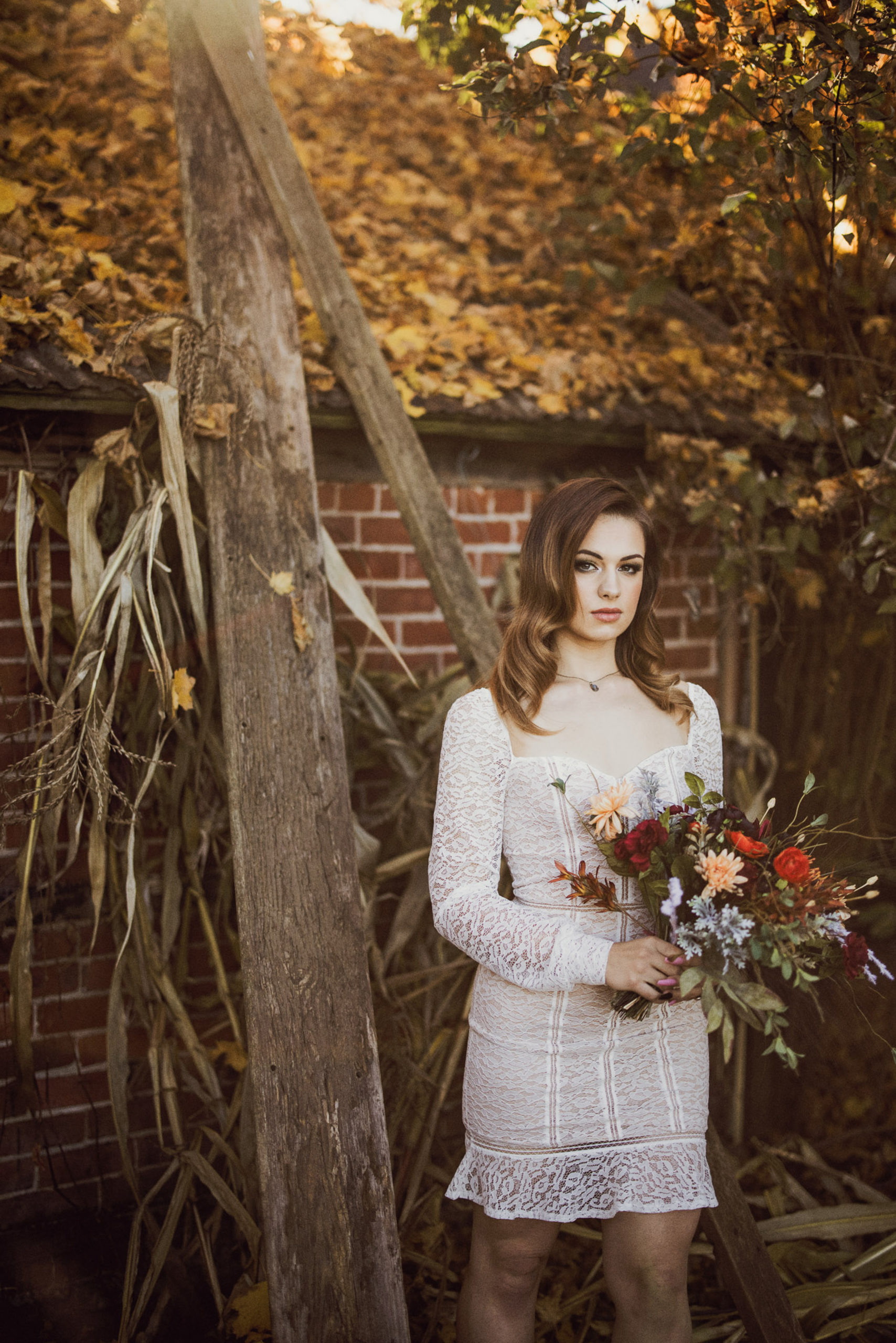 edgy bridal dress afterglow images maple meadows farm niagara