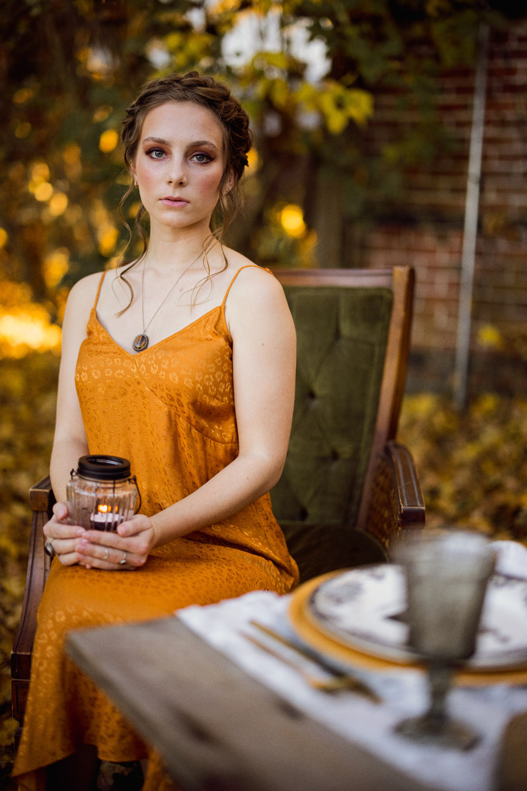 stunning outdoor fall bridal inspiration session at maple meadows farm