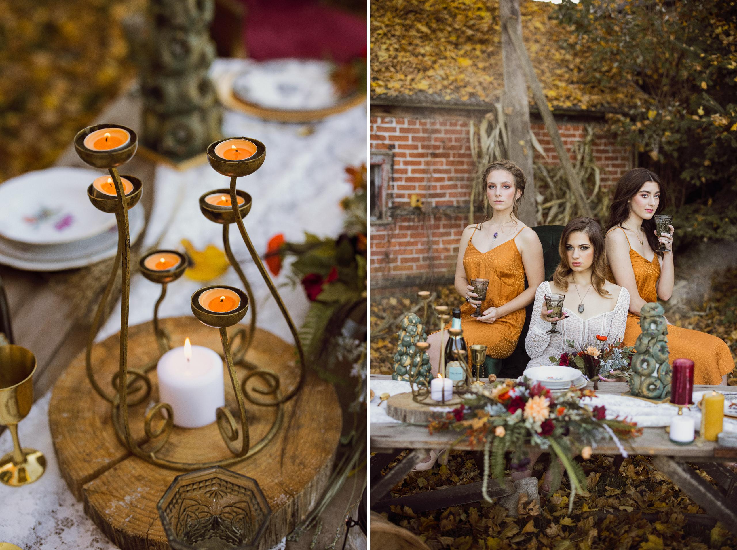maple meadows farm wainfleet afterglow bridal session fall autumn
