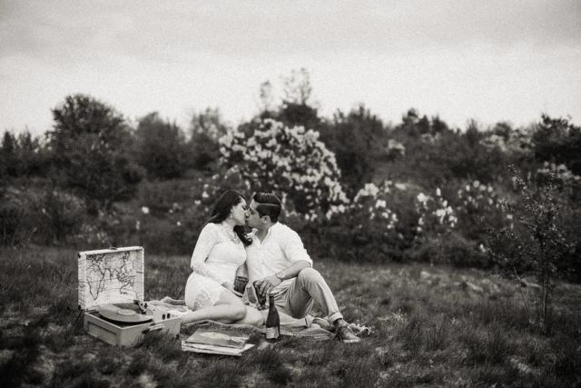 The good old days. When it was just me and you. #afterglowportraits  . . #blackandwhite #film #picnic #couple #romance #hilltop #spring #portraithood #canoncanada @canoncanada #filmphotography #engagementphotos #engaged #niagaraphotographer #hamiltonphotographer #blossom #field #melonmag #portraitshooter @portrait.shooters #all_beautiful_people #outdooradventures #vintage #love #niagara